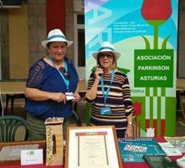 Stand de Parkinson en una Feria